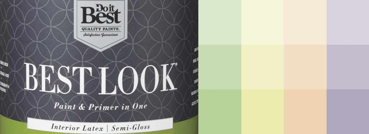 Best Look paint can and swatches