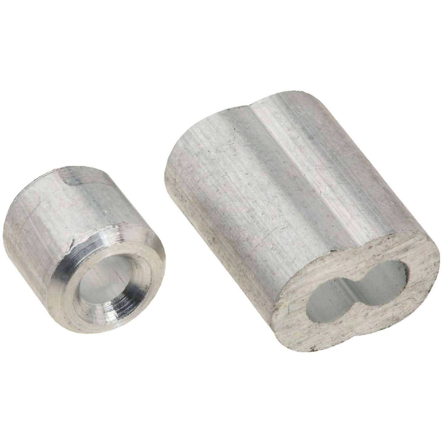 National 1/8 In. Aluminum Garage Door Ferrule & Stop Kit Image 1