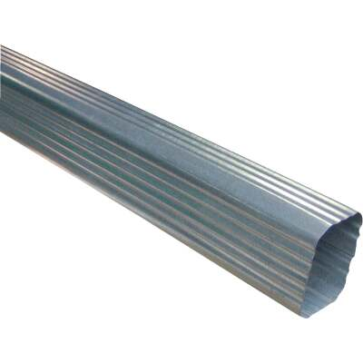 NorWesco 2-3/8 In. x 3-1/4 In. Galvanized Downspout