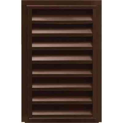 "NorWesco 14"" x 24"" Rectangular Brown Gable Attic Vent"