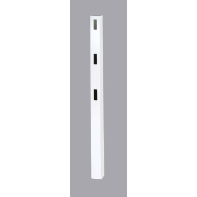 Outdoor Essentials 5 In. x 5 In. x 84 In. White End 3-Rail Fence Vinyl Post