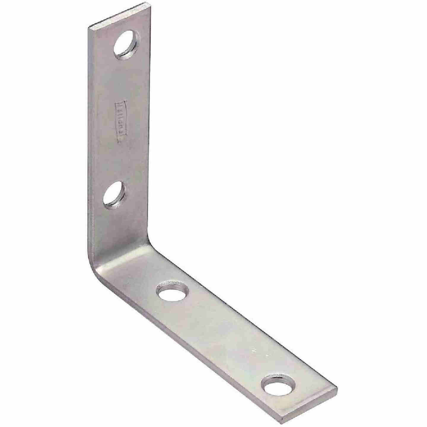 National Catalog V115 3 In. x 3/4 In. Zinc Steel Corner Brace (4-Count) Image 1