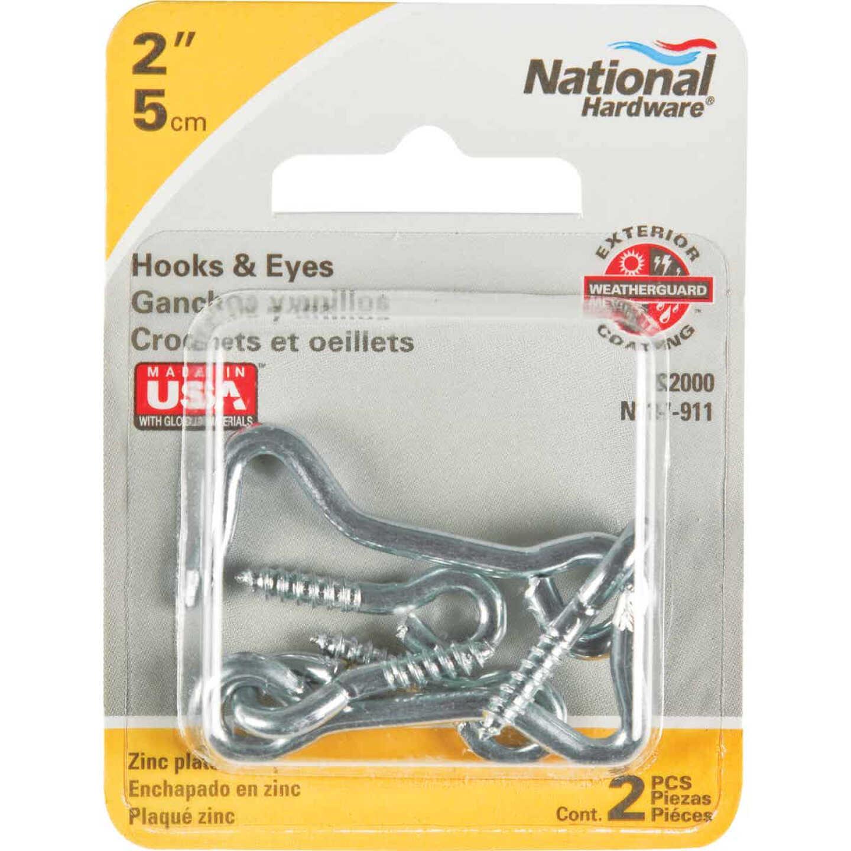 National 2 In. Steel Hook & Eye Bolt (2 Ct.) Image 2
