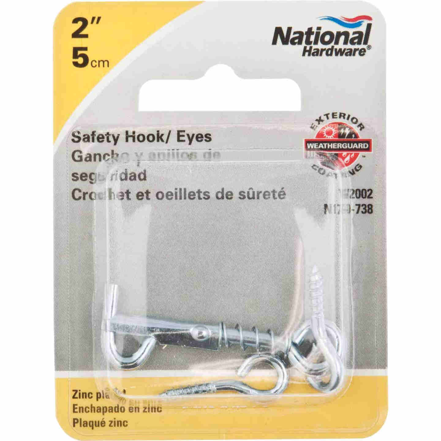 National Steel 2 In. Safety Gate Hook & Eye Bolt Image 2