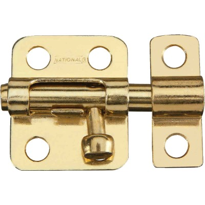 National 2 In. Satin Brass Cellar Window Barrel Bolt