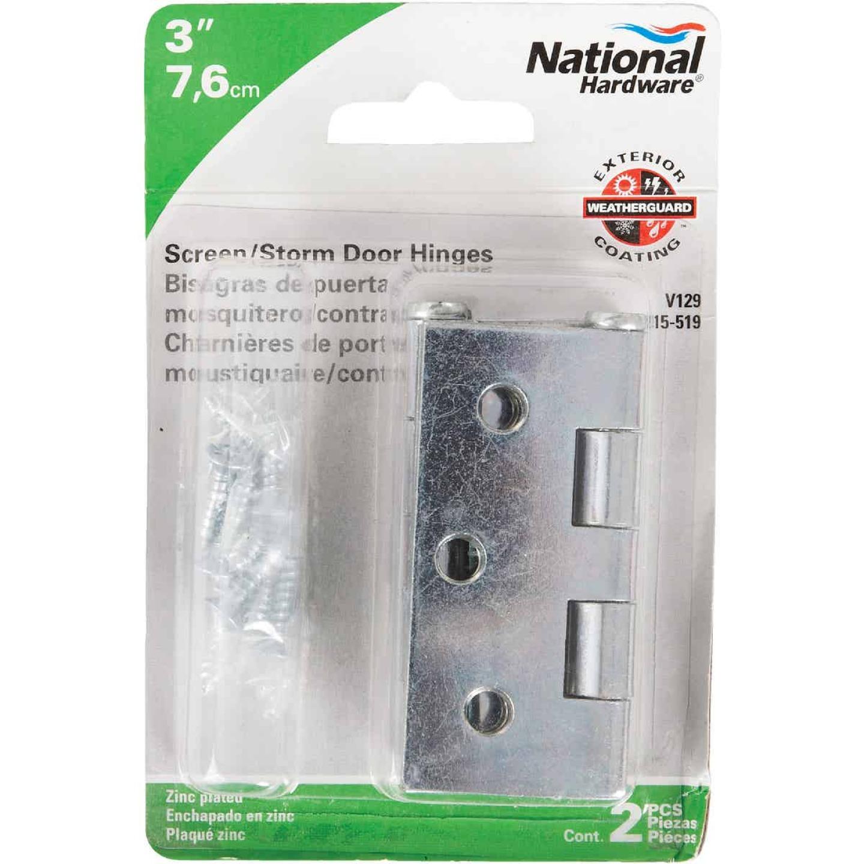 National 3 In. Square Corner Zinc Screen Door Hinge (2-Pack) Image 2