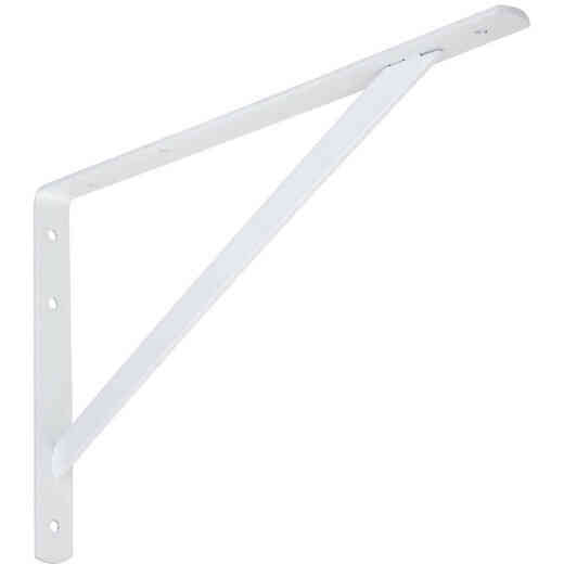 National 111 16 In. White Steel Super Strength Shelf Bracket