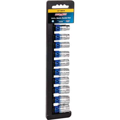 Channellock Metric 3/8 In. Drive 12-Point Shallow Socket Set (10-Piece)