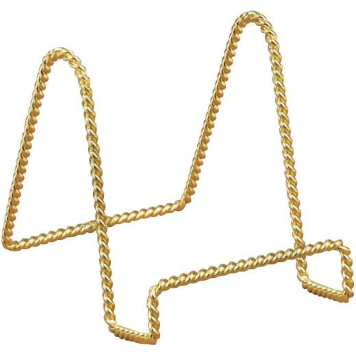 Tripar 6 In. Brass Twisted Wire Plate Stand