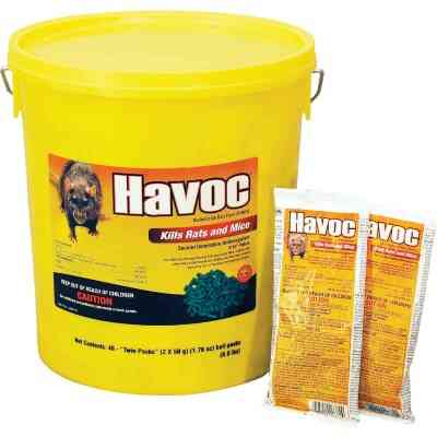 Havoc Pellet Bait Pack Rat And Mouse Poison (40-Pack)