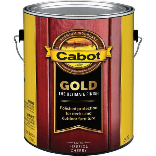 Cabot Gold Low VOC Exterior Stain, Fireside Cherry, 1 Gal.
